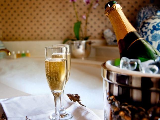 Champagne bath