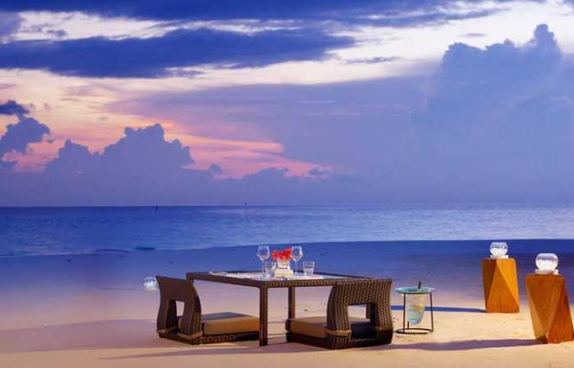 Maldives Private Beach Dinner