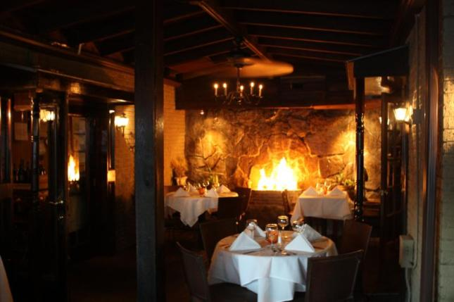 Fireplace eatery